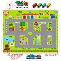 Maps Jalanan Mobil Bus Tayo / Airport / Rel Kereta / Robo Car Poli