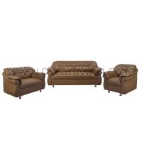 Sofa 321 Xena Mocca Brown Oscar ( Full set Tanpa Meja )