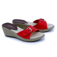 MT01 Garsel Shoes Sandal Flat/Heels Wanita Merah Bata GB 8304