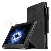 Lenovo Yoga Book 10.1 Inch - Silk Leather Flip Case Stand Cover