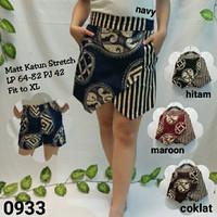 0933# Rok celana batik, bahan katun stretch lp 64-82 pj 42