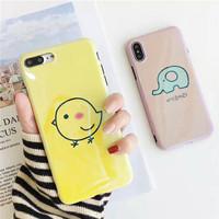 korea case lucu ayam gajah softcase lucu iphone 6 6s plus 7 7+ 8 8+ X