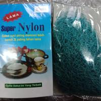 Sabut Cuci Piring super Nylon bahan Jaring/Jala