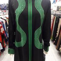 BUSANA MUSLIM HIKMAT WANITA DRESS GLAMOUR ABAYA SYAR'I A945 Size L