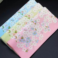 sapu tangan handkerchief floral bunga jepang japan cotton wanita