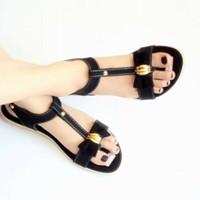 sandal sepatu wanita slop tali variasi aksesoris
