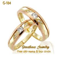 Cincin Kawin Nikah Tunangan Couple Perak G-184