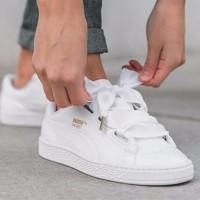 JUAL Sepatu Puma Basket Heart Pat Full White Premium Original TERMURA
