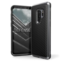 X-Doria Samsung Galaxy S9 Plus Case  Defense Lux - Black Carbon