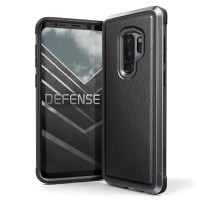 X-Doria Samsung Galaxy S9 Plus Case  Defense Lux - Black Leather