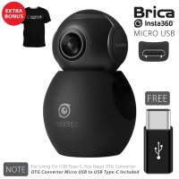 BRICA B-PRO Insta360 / Insta 360 Air Camera USB Type-C - Black T-shirt