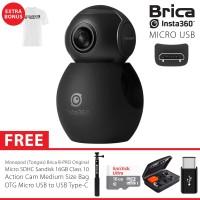 BRICA B-PRO Insta360 / Insta 360 Air USB-C Camera Deluxe 16GB - White