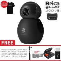 BRICA B-PRO Insta360 / Insta 360 Air USB-C Camera Deluxe 16GB - Black