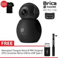 BRICA B-PRO Insta360 / Insta 360 Air USB-C + Monopod Brica Ori - Black