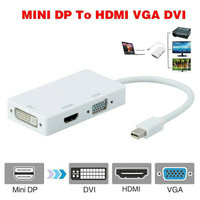 Thunderbolt mini DP to VGA DVI HDMI Converter Adapter Cable Apple Mac