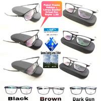 kacamata Frame Adidas +  Paket Lensa Essilor Fsv Super 1.56 Hi index