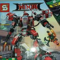 Lego bricks cina Robot buster Ninjago movie karakter Kai merk SY/kw