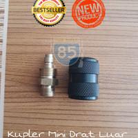 Kupler Jantan Mini Mikro Drat Luar Plus Tutup Teplon