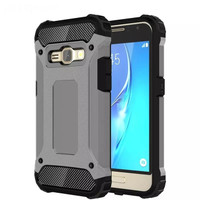 Softcase Samsung Galaxy J7 Core Hardcase+Softcase Spigen Hybrid Dual
