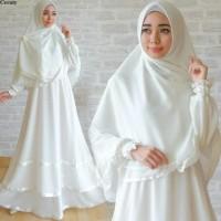 Gamis Ceruti White Gamis Putih Baju Gamis Umroh Pakaian Haji Polos