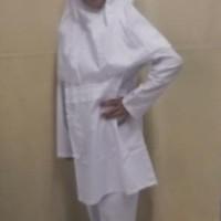(Sale!!!) Baju Muslim Setelan Anak Perempuan  Warna Putih  4, 5, 6, 7,