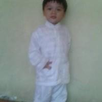 (Baru!!) Baju Koko Stelan Putih Anak 2 Dan 3 Tahun