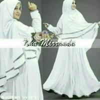 (Sale!!!) Najibah Syar'I White Busana Muslim Wanita Warna Putih Gamis