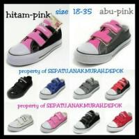 (New Arrival!!) Sepatu Anak Murah Converse Velcro / Perekat Size 18-35