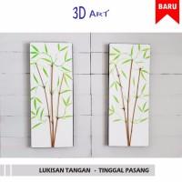 Harga best seller hiasan dinding bambu dekoratif 3d pring | antitipu.com