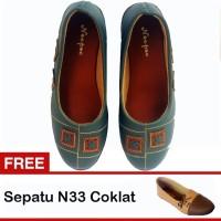 Harga wnc shop Yutaka sepatu wanita N32 Abu Abu Gratis N33 Cokelat | DEMO GRABTAG