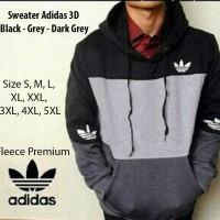 Sweater adidas Hitam Abu Muda Abu Tua Size S, M, L, XL,