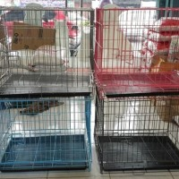 Gojek kandang kucing anjing ukuran P 60 x L 45 x T 50 musang kelinci