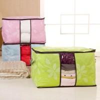 Storage bag flower Tas jumbo Box tempat Pakaian laundry CASHBACK