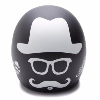 BGR helmet Helm Dewasa WTO Helmet Retro Bogo Gentleman Hitam
