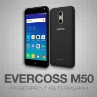 Evercoss M50 4G LTE Face Unlock Ram 1/8GB Garansi Resmi