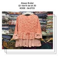 Atasan Brukat LD 104 cm 5 Warna Kebaya Brokat Baju Pesta Muslim Gamis