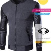 Jaket Sweater Black Sabre Bomber