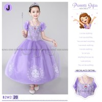 BAJU ANAK DRESS PESTA KOSTUM PRINCESS SOFIA