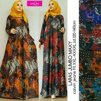 Laras Jumbo,gamis muslim jumbo,baju jumbo,baju hamil,baju batik jumbo