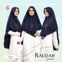 Khimar Syari model penguin diamond 2 layer RAUDAH NAVY YASMEERA