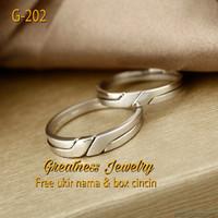 Cincin Kawin Nikah Tunangan Couple Perak G-202