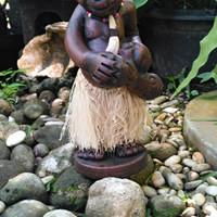 Harga patung etnik tifa asmat souvenir kerajinan terbuat dari tanah | Pembandingharga.com