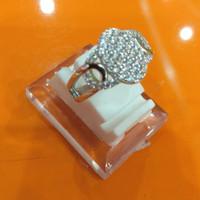 cincin perak silver asli 925 lapis emas putih