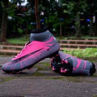 Sepatu Bola Nike Mercurial X CR7 Superfly Pink-Grey Grade Ori