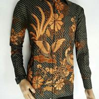 Kemeja batik lengan Panjang   Batik Kelenjar Daun Emas