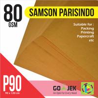 Kertas Samson Coklat 80 gram, 90 x 120 cm Kertas Untuk Packing