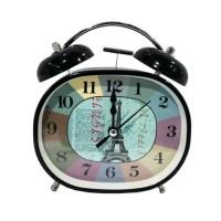 Jam Weker Meja Kring Oval Vintage Hitam Paris-147868