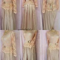 dress kebaya gold kebaya pesta dress brokat