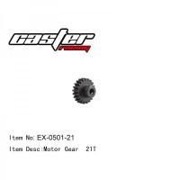 EX-0501-21 MOTOR GEAR 21T MOD1 SHAFT 5MM BAJA