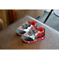 Sepatu LED Anak Laki-laki Sepatu Karakter Spiderman Superhero Impor